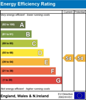 Energy Efficiency Report - currently 54 and could be 54