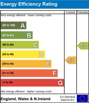 Energy Efficiency Report - currently 53 and could be 73