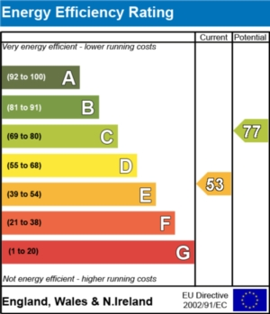 Energy Efficiency Report - currently 53 and could be 77