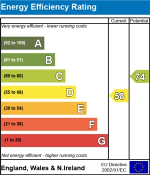 Energy Efficiency Report - currently 58 and could be 74