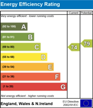 Energy Efficiency Report - currently 74 and could be 79