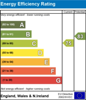 Energy Efficiency Report - currently 75 and could be 83